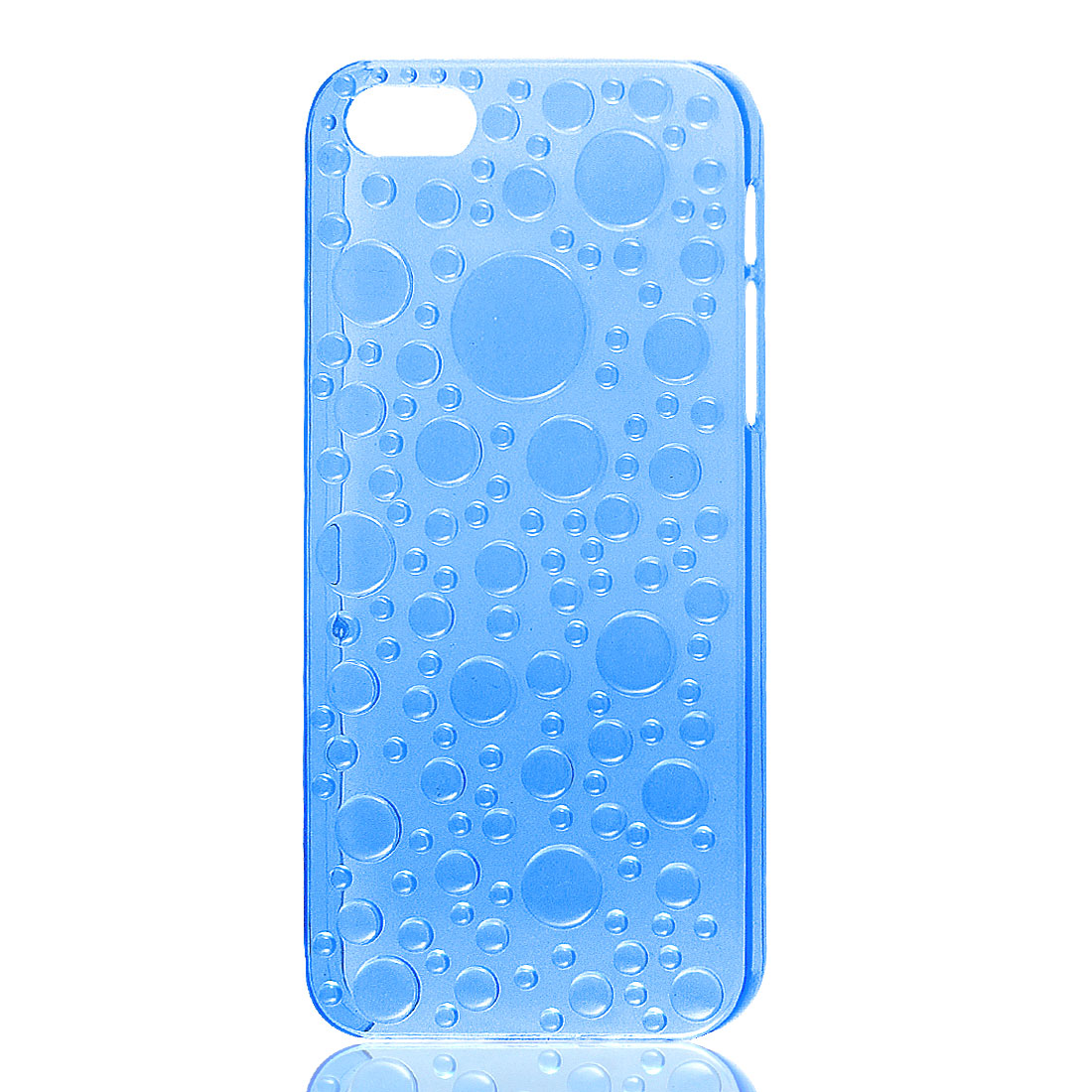3D Raindrop Waterdrop Hard Back Case Cover Clear Blue for Apple iPhone 5 5G