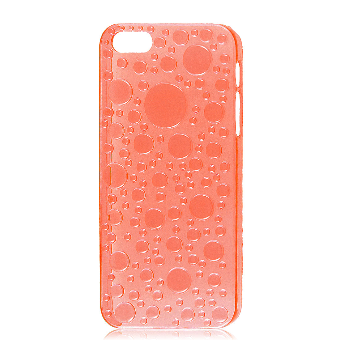 3D Raindrop Waterdrop Hard Back Case Cover Clear Orangered for Apple iPhone 5 5G