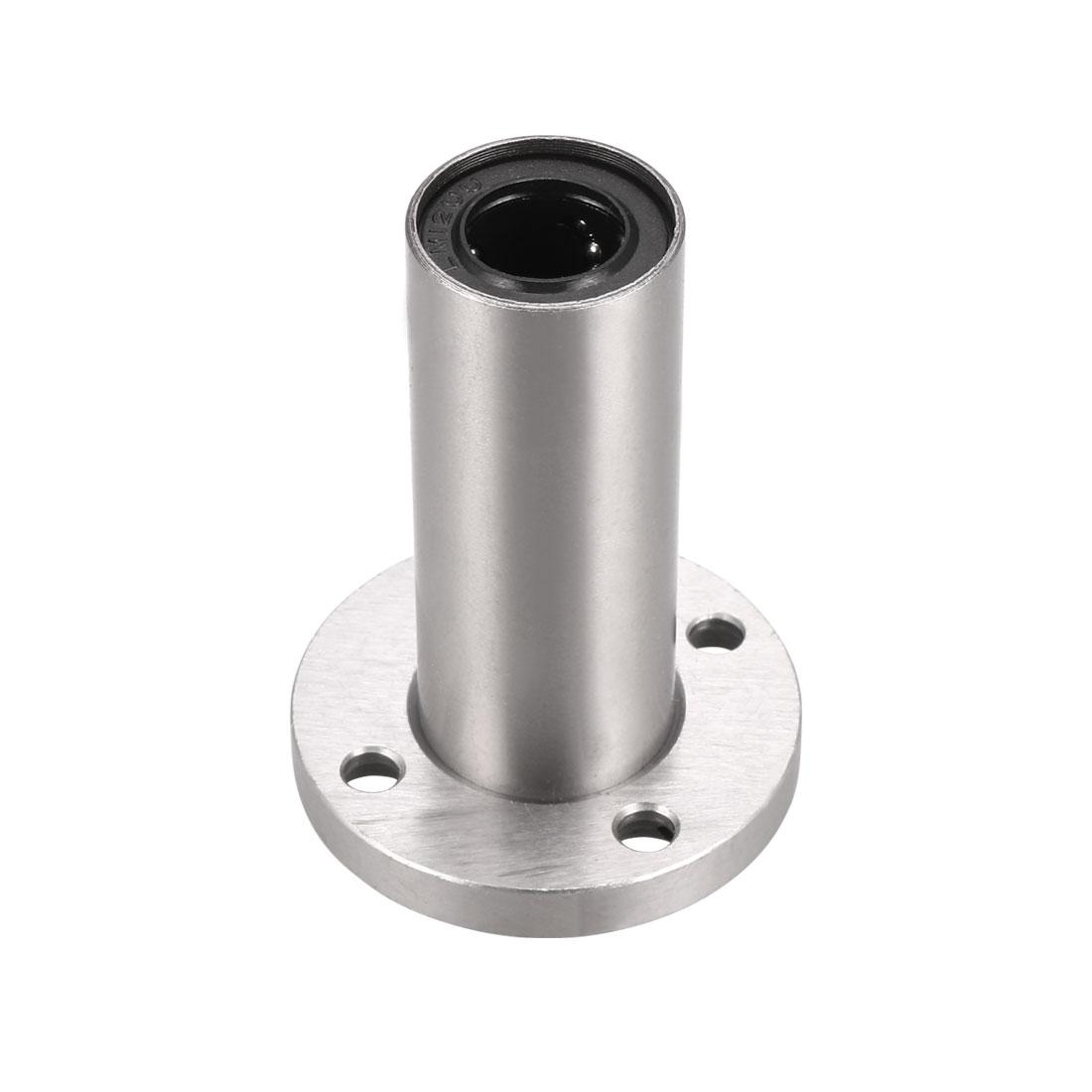 12mm Inner Diameter Flange Linear Motion Bushing Ball Bearing LMF12LUU