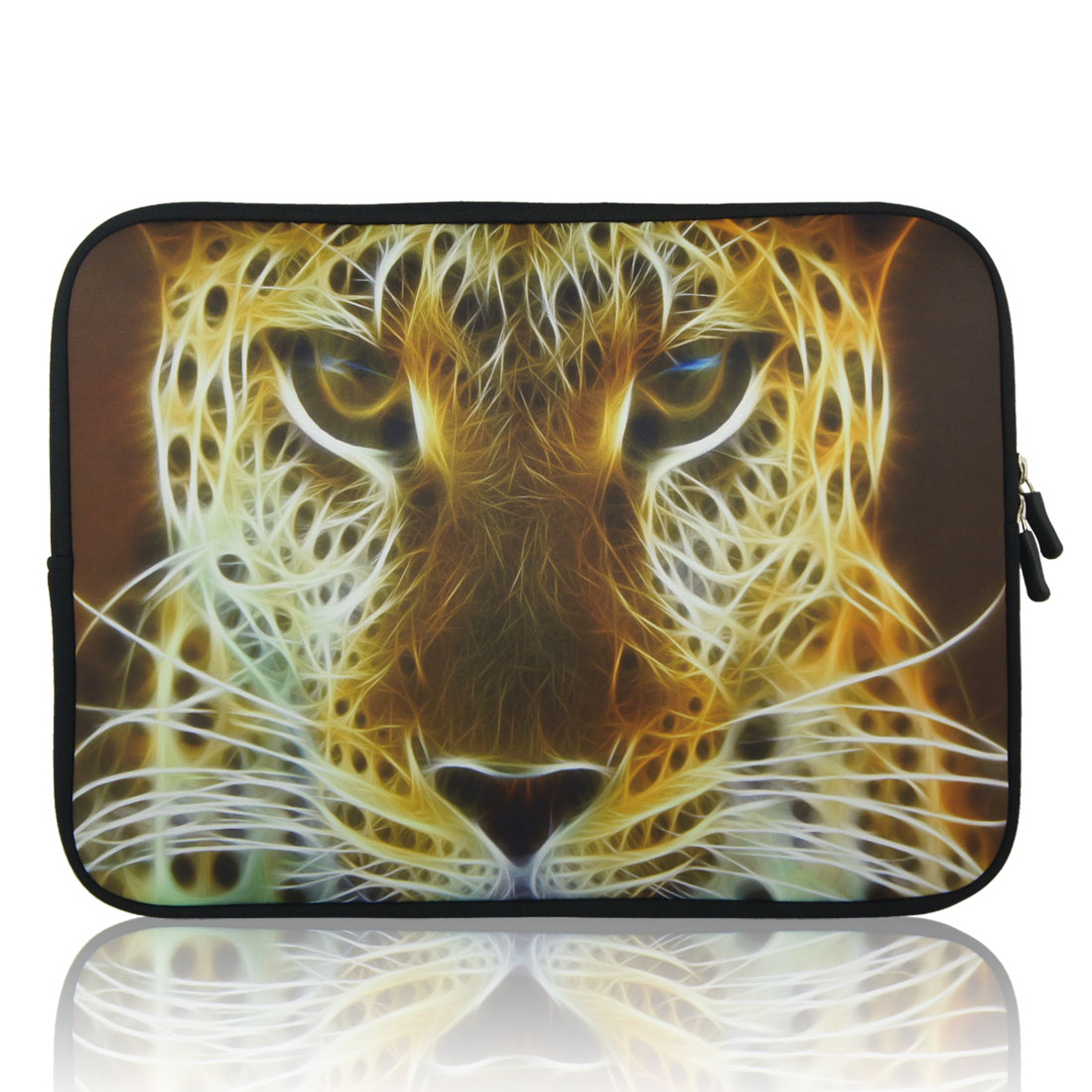 "17"" 17.3"" 17.4"" Tiger Pattern Notebook Laptop Dual Zipper Sleeve Bag Case for HP"