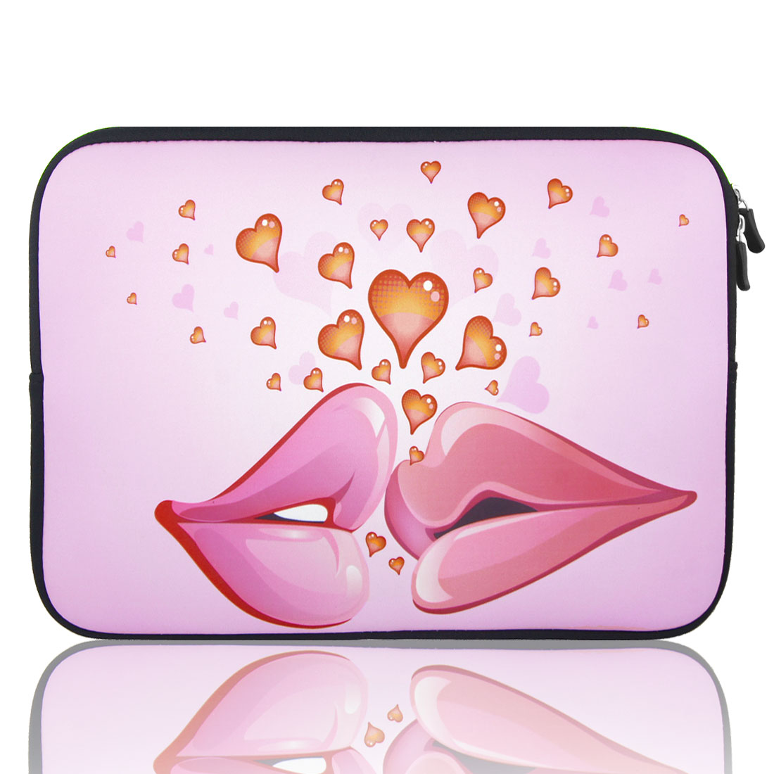 "17"" 17.3"" 17.4"" Lip Heart Pink Notebook Laptop Sleeve Bag Case"