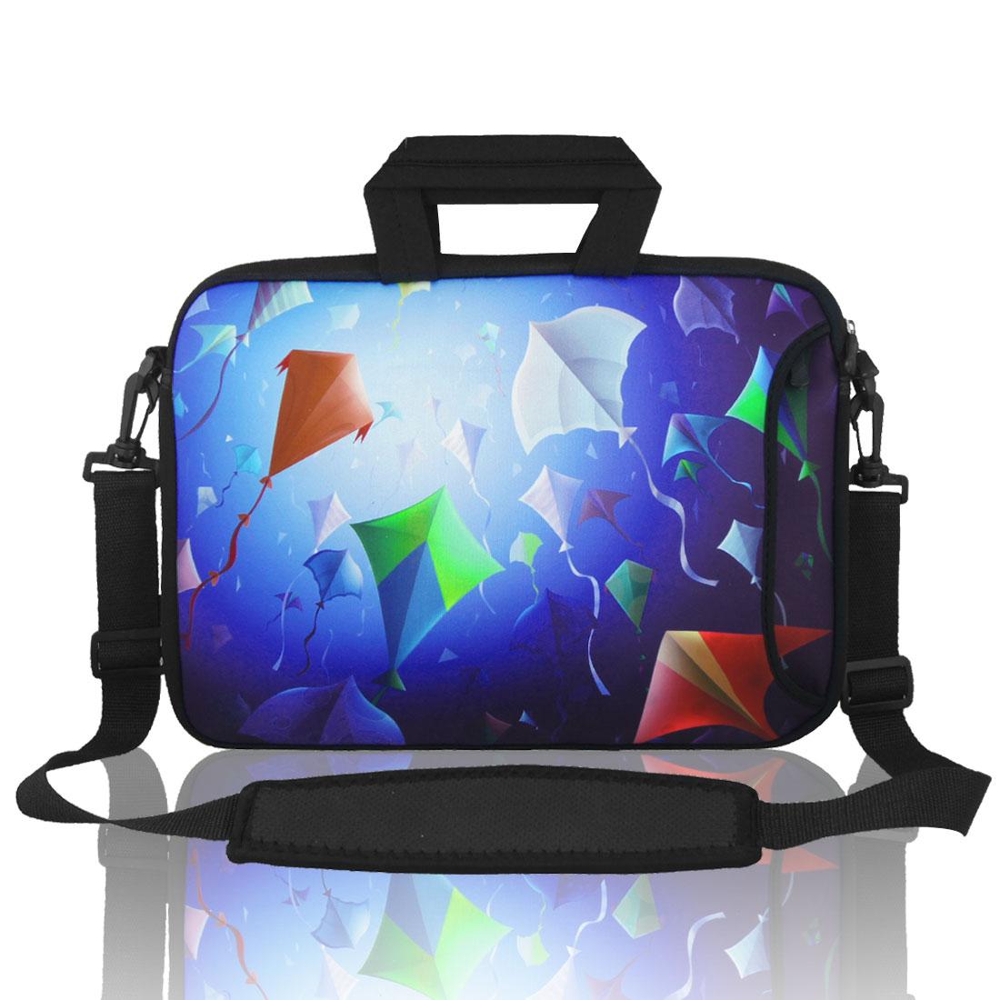 "17"" 17.3"" 17.4"" Kite Pattern Laptop Sleeve Bag Case w Shoulder Strap for PC Laptop"