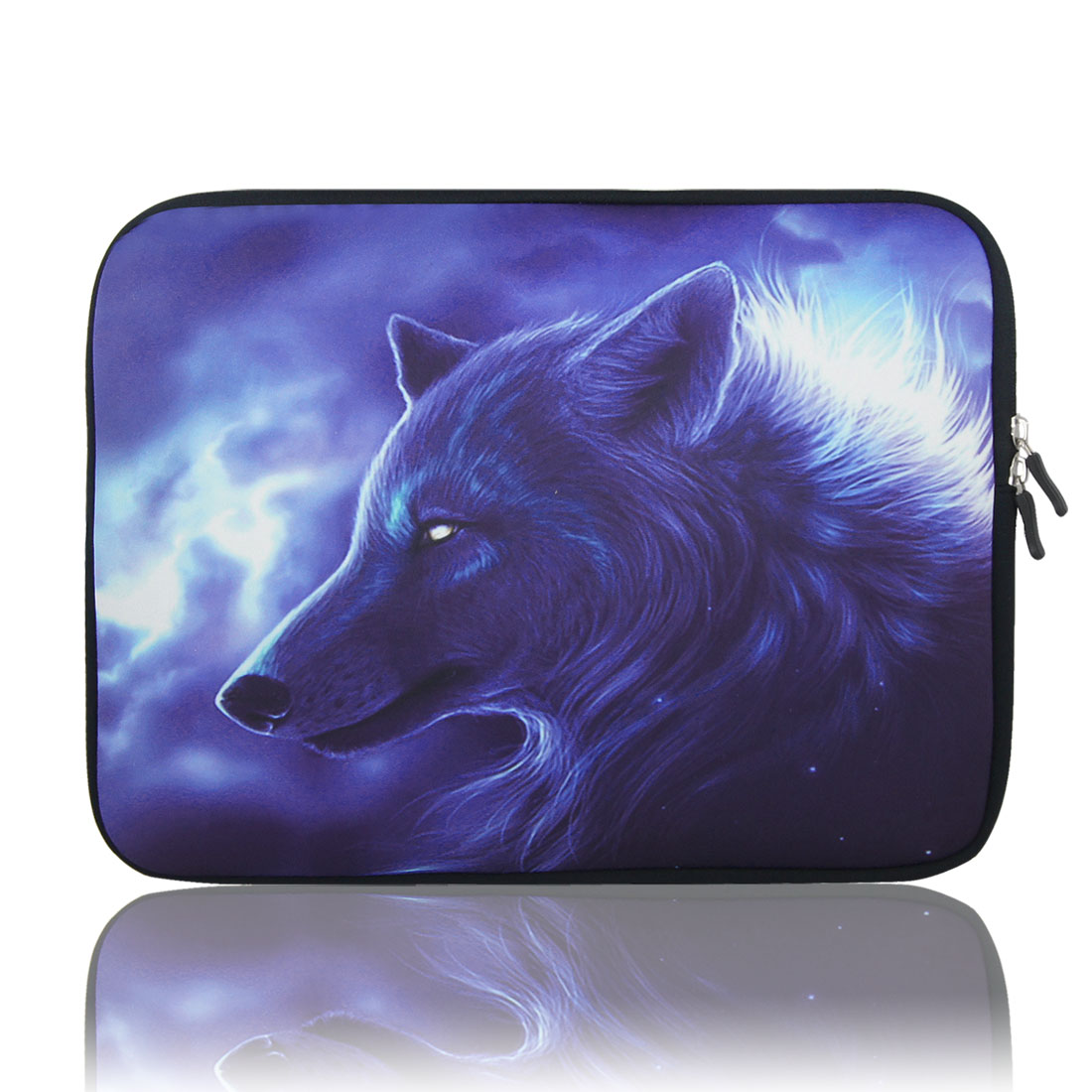 "17"" 17.3"" 17.4"" Wolf Pattern Laptop Notebook Sleeve Bag Pouch for HP Acer"