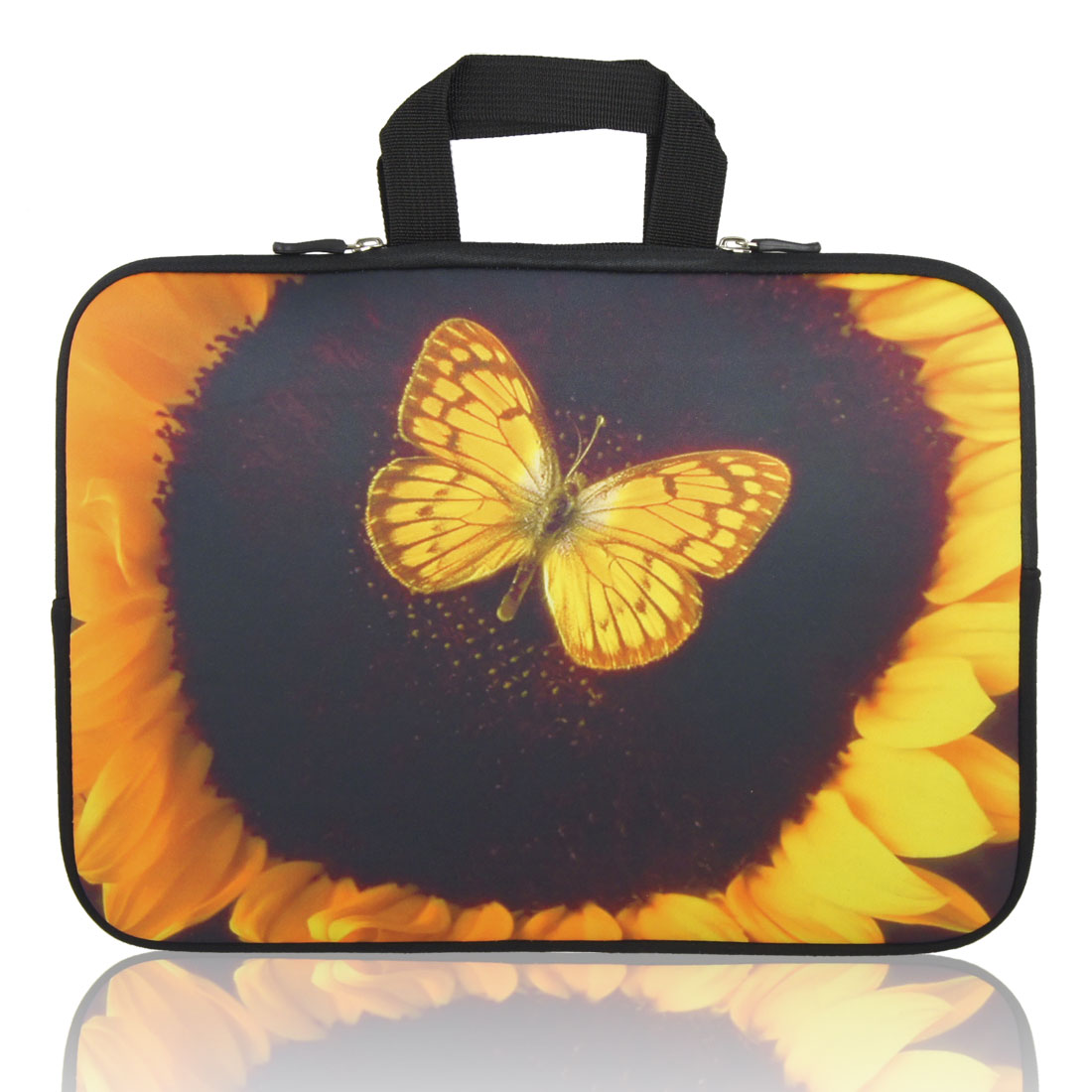"13"" 13.3"" Sunflower Butterfly Notebook Laptop Sleeve Handle Bag Case for HP"