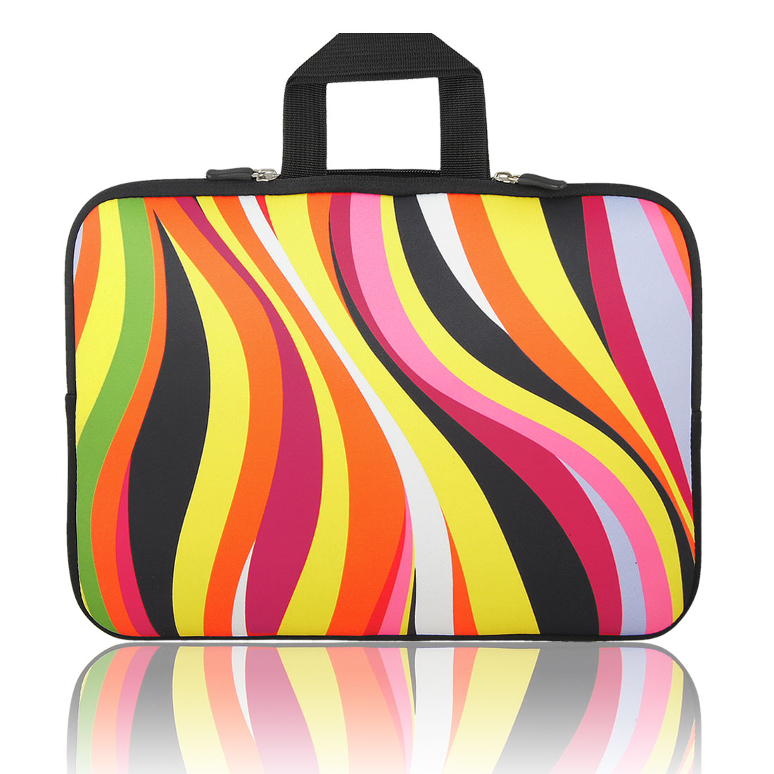"13"" 13.3"" Colorful Stripe Notebook Laptop Sleeve Handle Bag Case for Macbook"