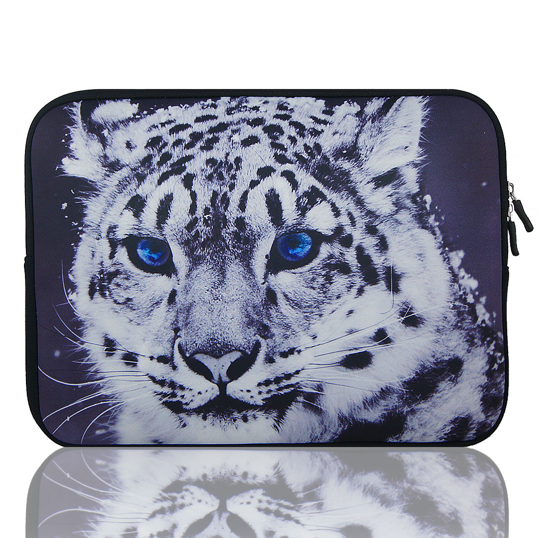 "17"" 17.3"" 17.4"" Leopard Print Notebook Laptop Sleeve Bag Case Pouch for HP DV7"