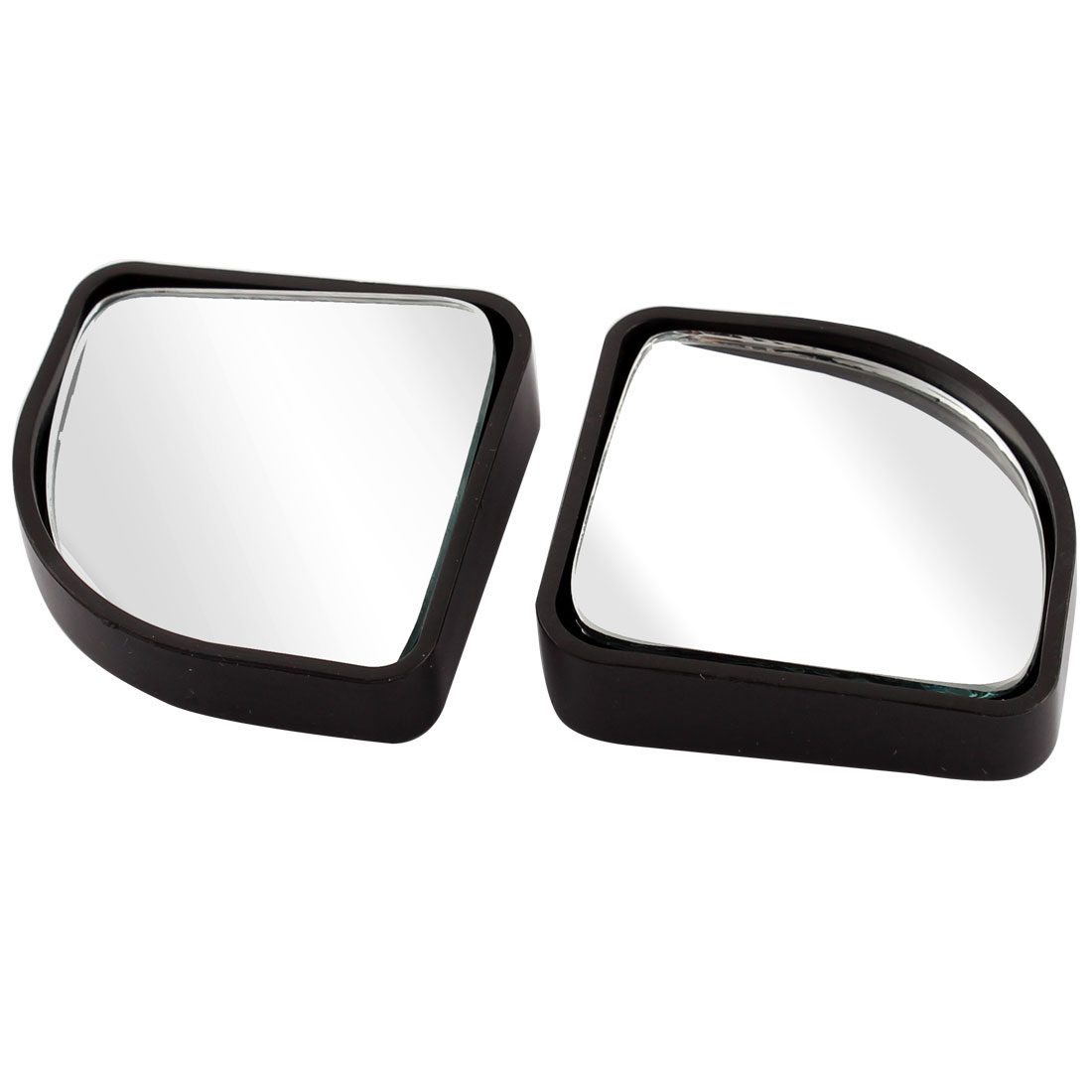 "Auto Car 2"" x 1.8"" Stick-on Blind Spot Mirror Black 2 Pcs"