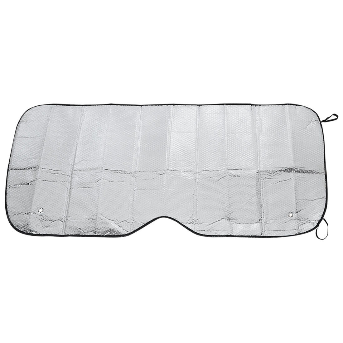 130cm x 68cm Auto Retractable Roll Up Side Window Sun Shade Silver Tone w Suction Cups