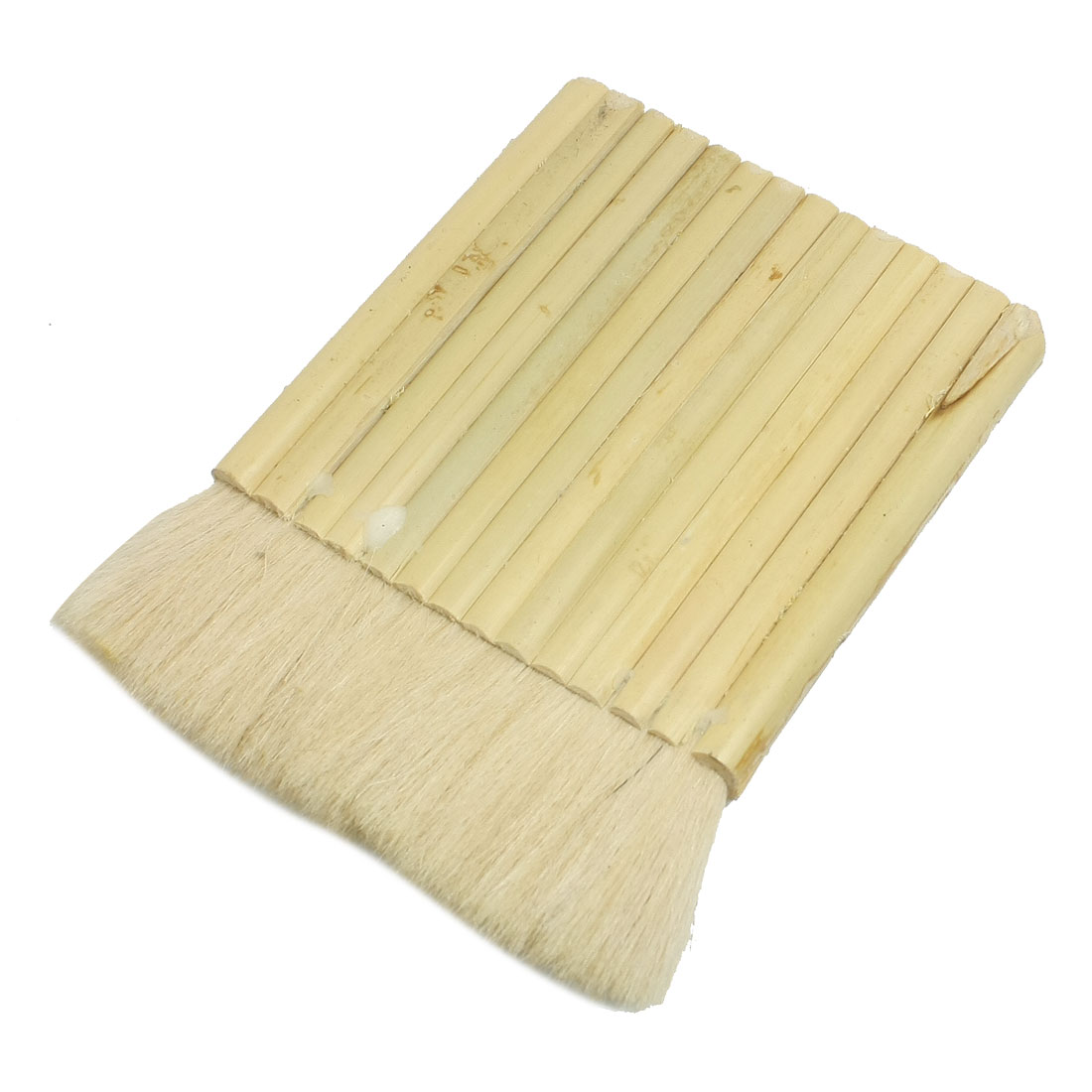 "4"" Width Soft Faux Wool Wood Handgrip Oil Paint Brush Painting Tool"
