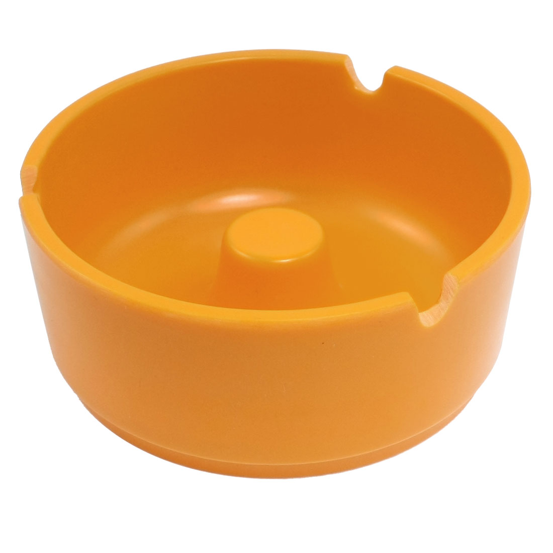 Restaurant Hotel Bowl Shaped Orange Plastic Ash Holder Ashtray