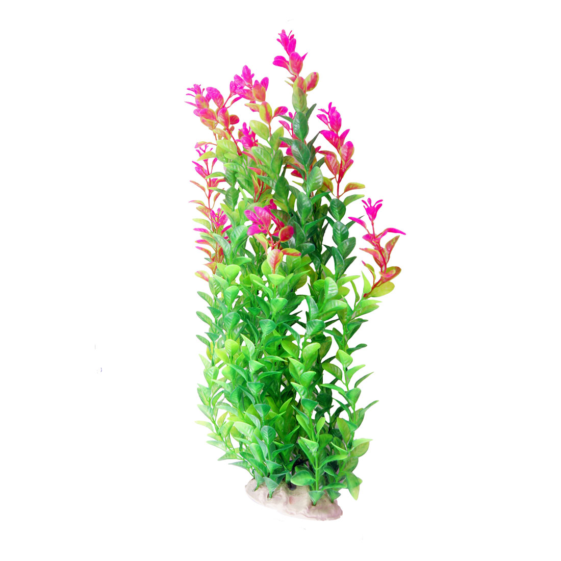 "16.9"" Long Green Fuchsia Aquarium Simulation Plastic Aquatic Float Grass Decor"