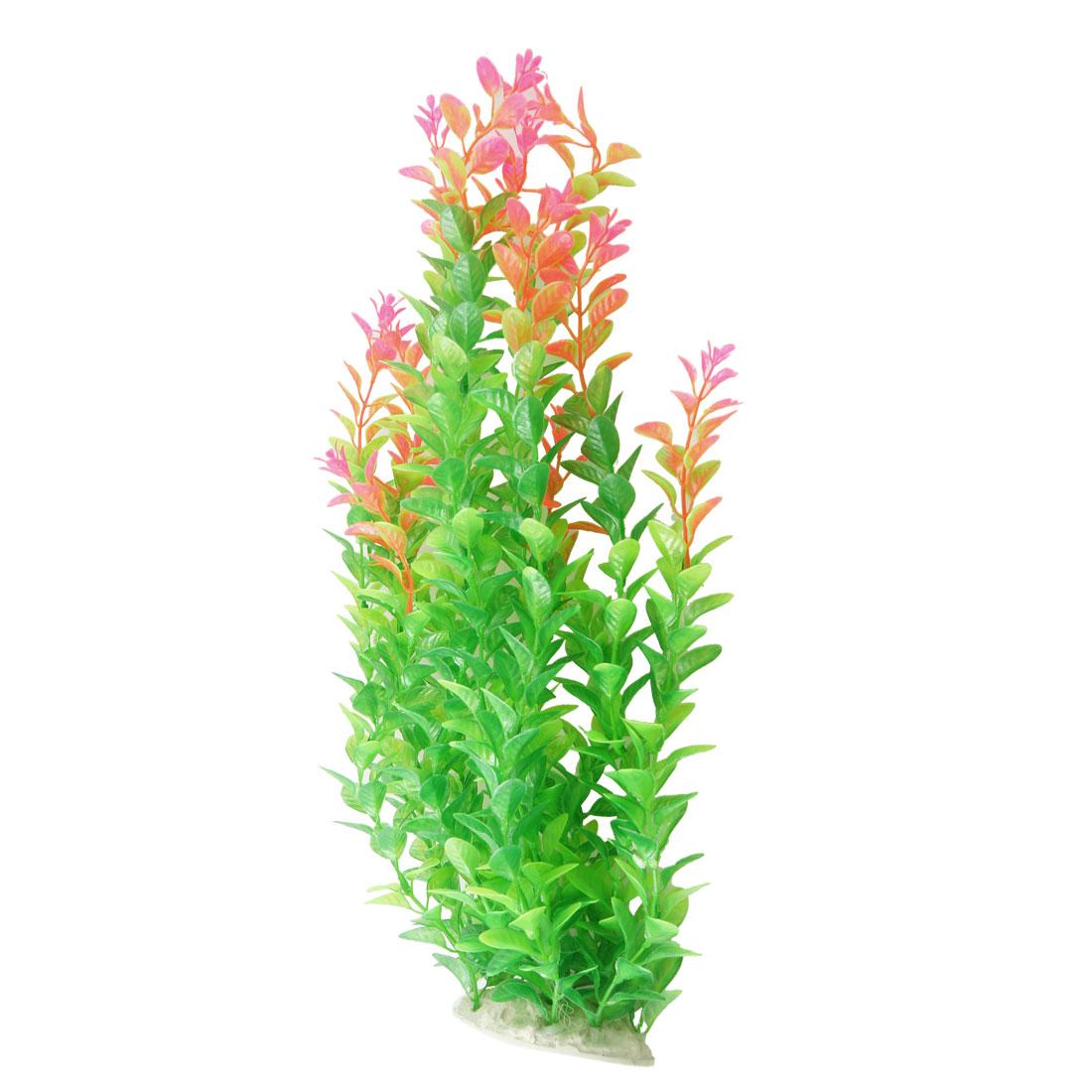 """16.9"""" Length Green Pink Aquarium Simulation Aquatic Float Grass Decoration"""