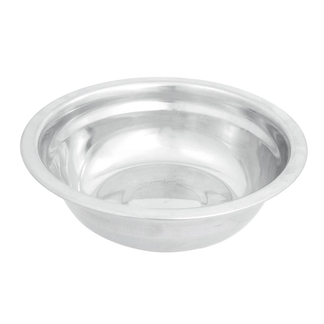 "Kitchen 5.9"" Diameter Stainless Steel Dinner Bowl Silver Tone"
