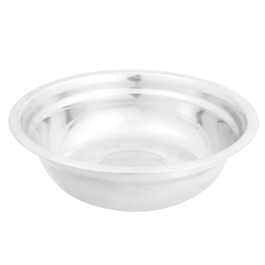 "Kitchen 7.5"" Diameter Stainless Steel Dinner Bowl Silver Tone"