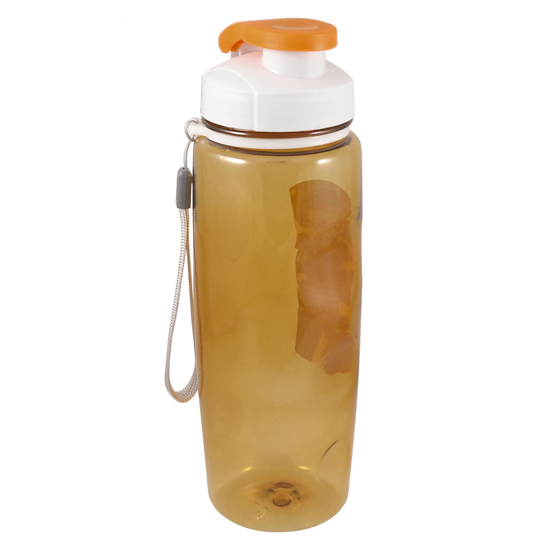 700ML Clear Brown Plastic Leakproof Drinking Holder Water Bottle w Strap