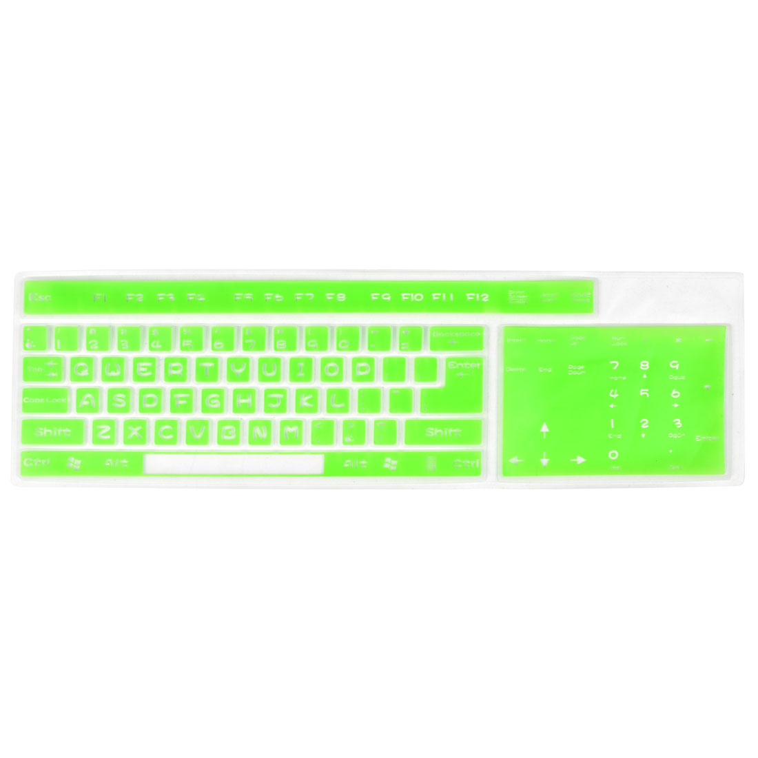 Green Clear Soft Silicone Keypad Keyboard Protector Skin Cover Film for Desktop Computer