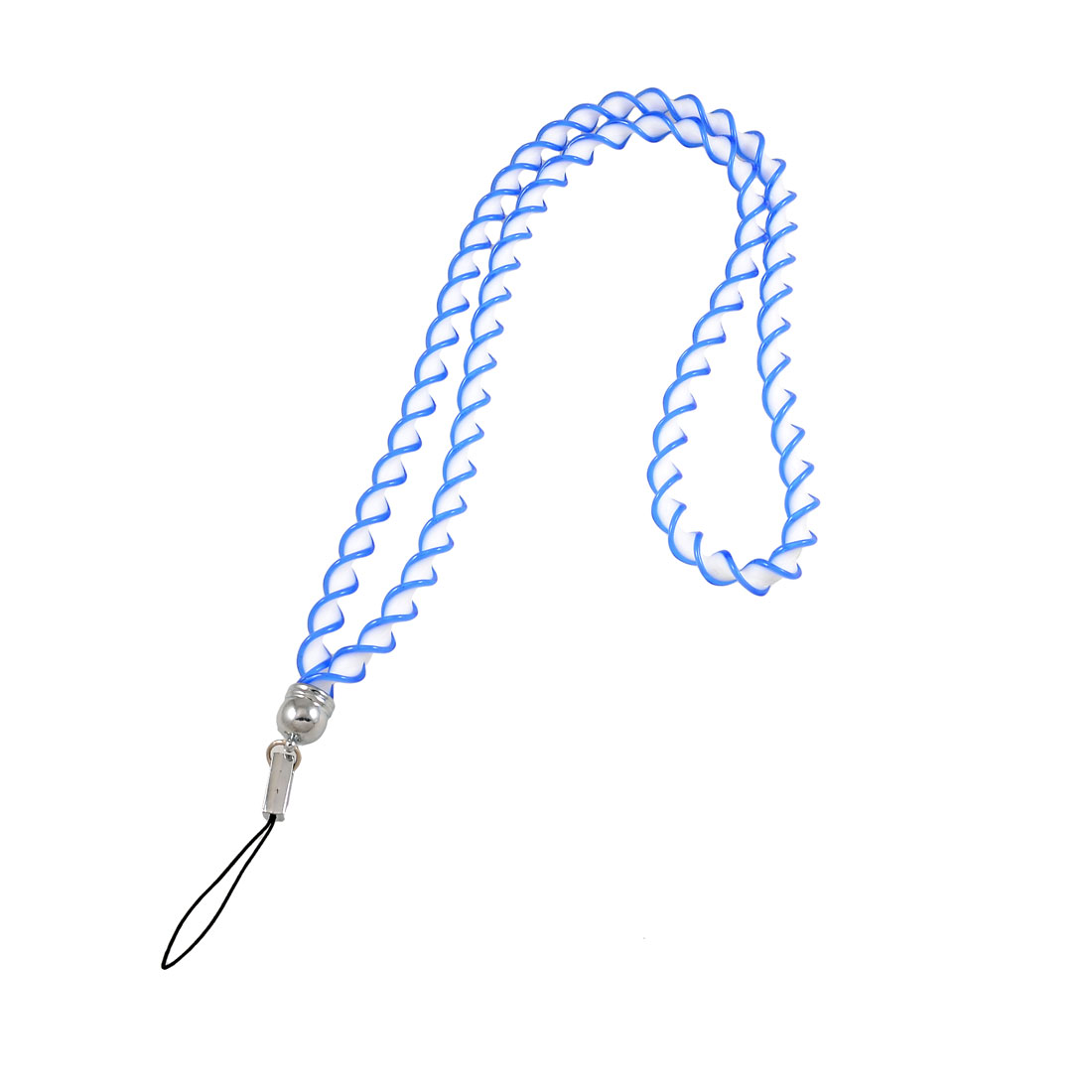 Phone Decor Blue White Plastic Cellphone Twisted Neck Strap Lanyard