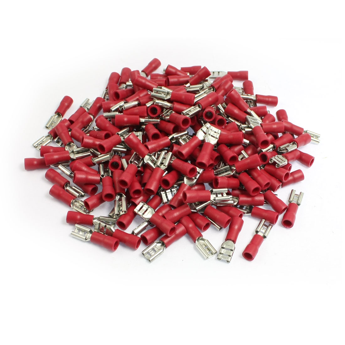 200 Pcs 5.6mm Spade Width Red Pre Insulated Spade Crimp Terminals