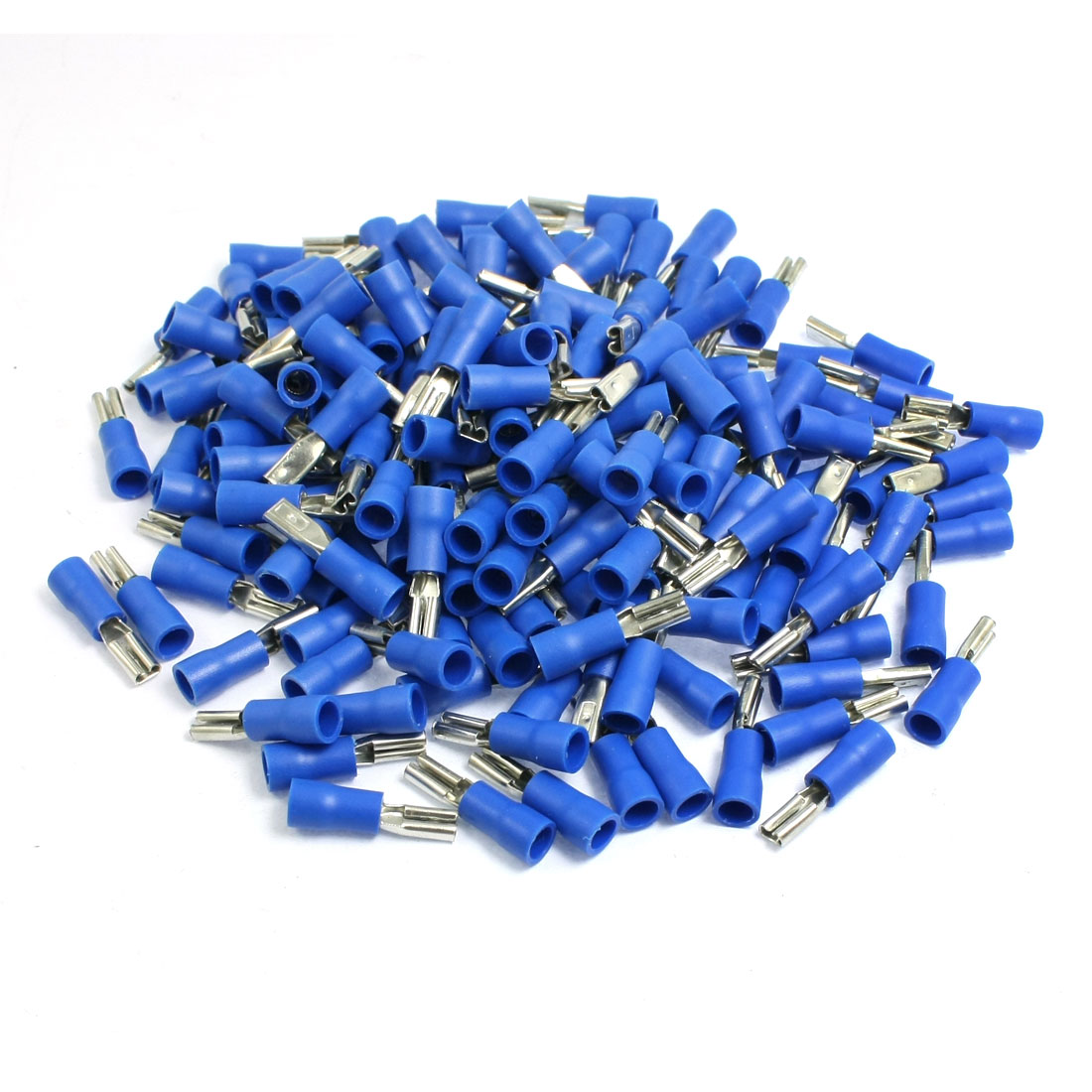 150pcs Pre Insulated Female Spade Crimp Terminals Blue for AWG 16-14 Cable