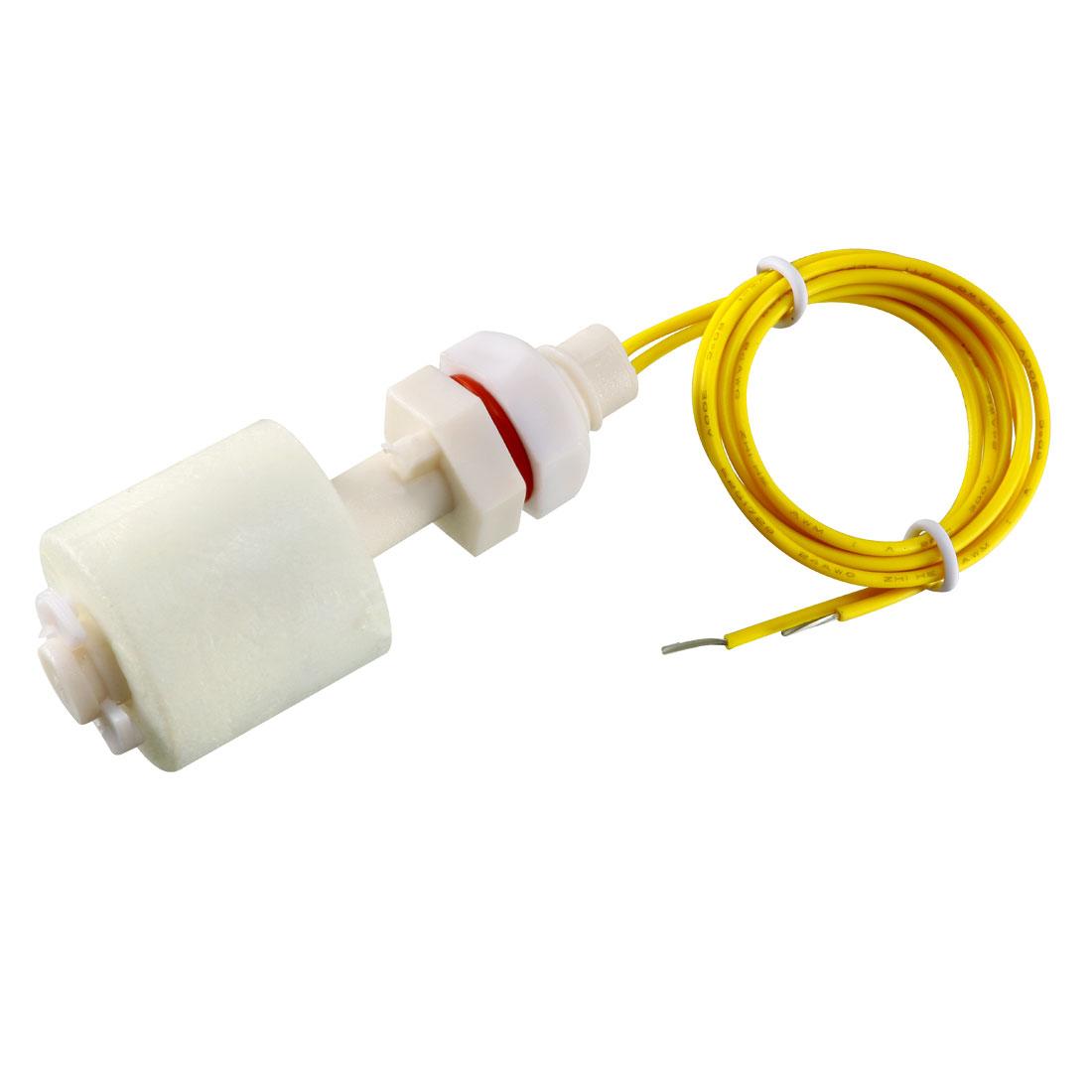 Fish Tank Aquarium Water Level Sensor Vertical PP Plastic Float Switch White