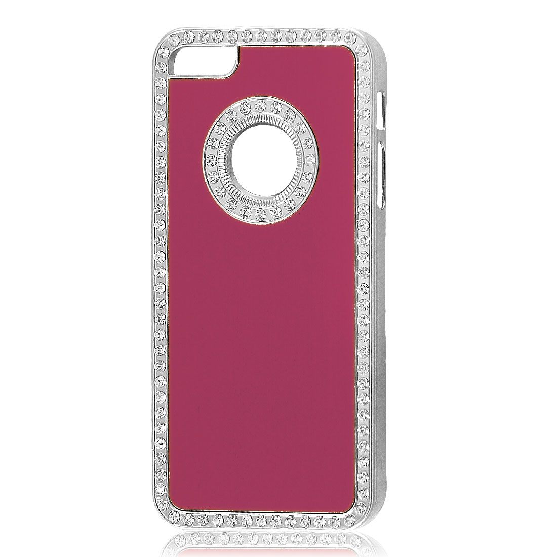Glitter Bling Rhinestone Fuchsia Hard Back Case Cover for iPhone 5 5G 5th