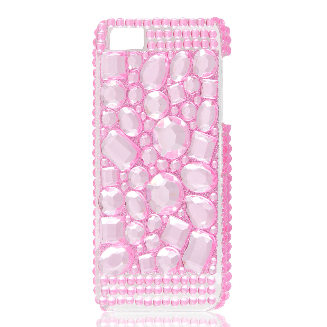 Pink Glitter Faceted Crystal Hard Back Case Cover for Apple iPhone 5 5G