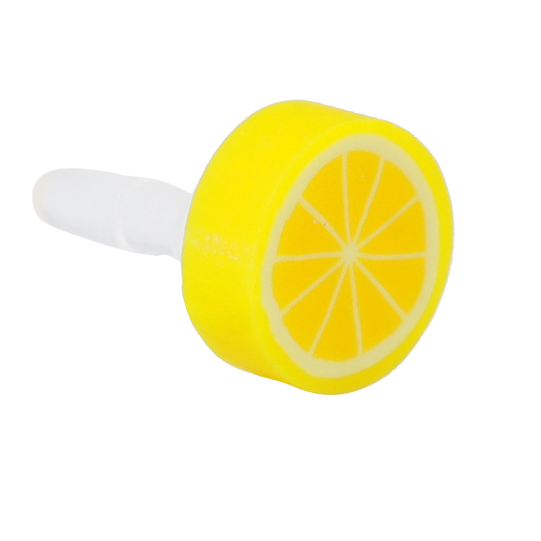 Cell Phone Fruit Orange 3.5mm Earphone Ear Cap Dust Plug Jack