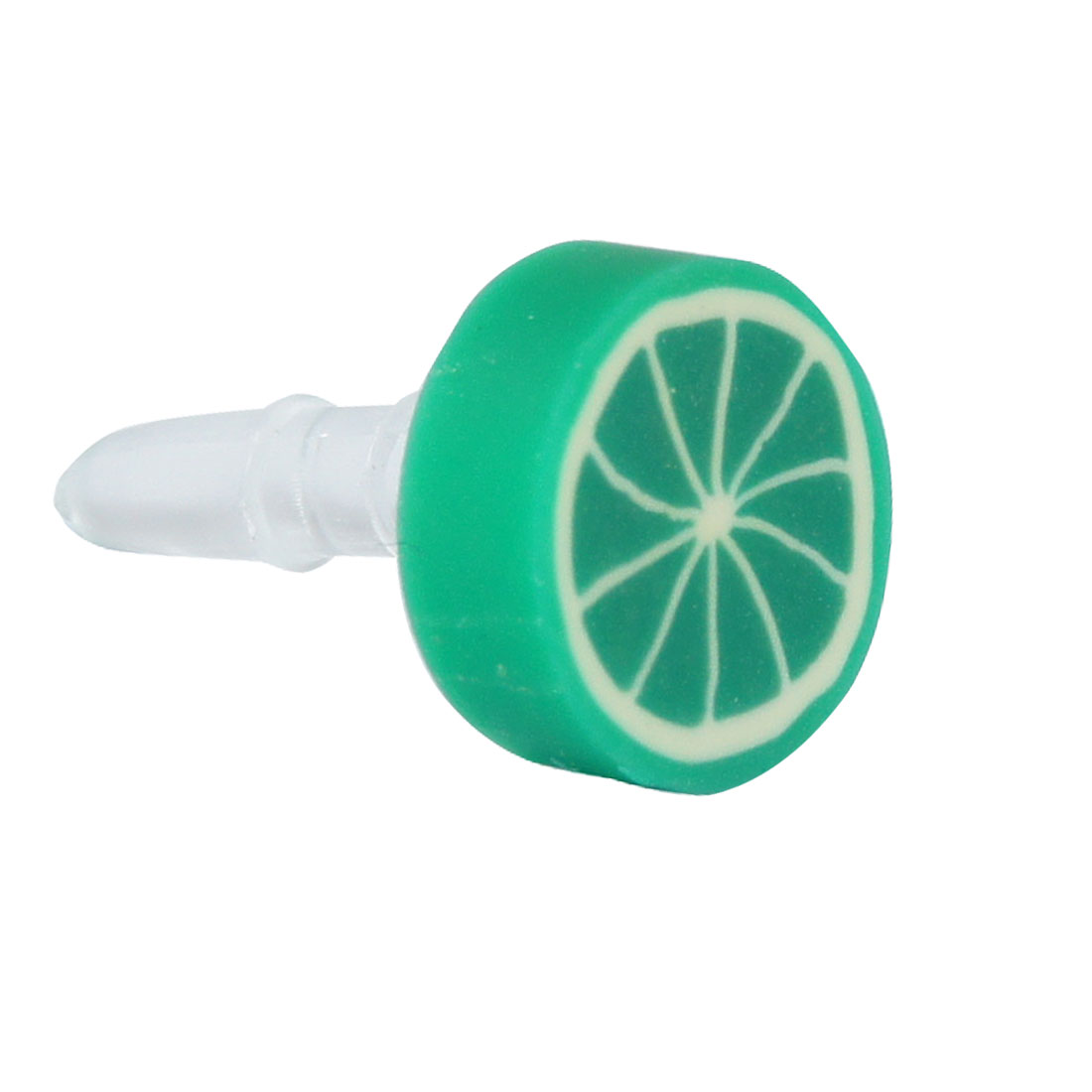 Dark Green Fruit Orange 3.5mm Earphone Ear Cap Dust for Cell Phone Smartphone