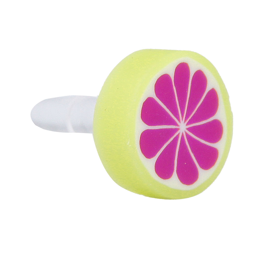 Purple Fruit Orange 3.5mm Dust-proof Ear Cap Plug Stopper Jack for Cell Phone Smartphone