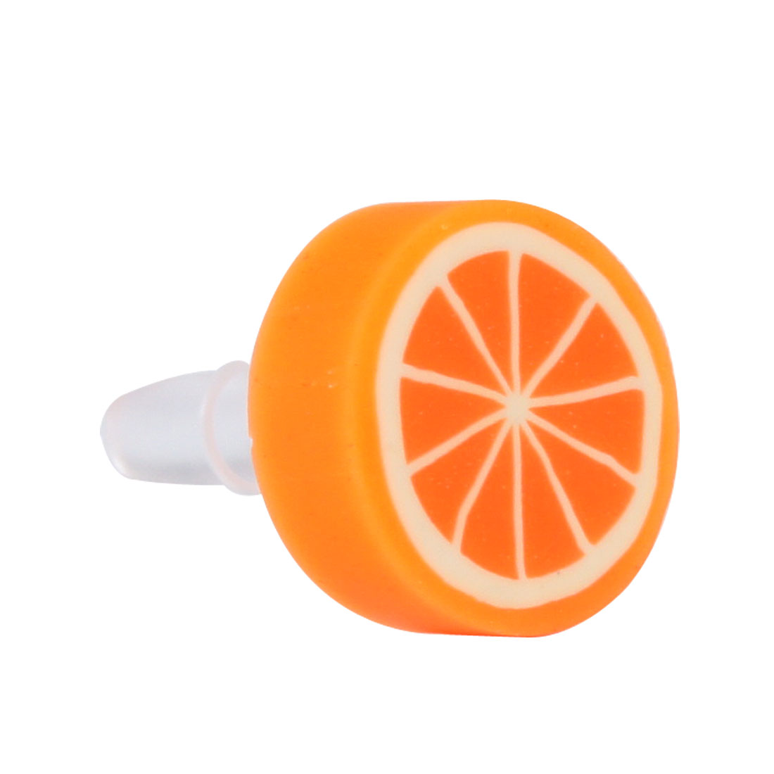 Round Fruit Orange Design 3.5mm Anti Dust Earphone Ear Cap for Mobile Phone MP3