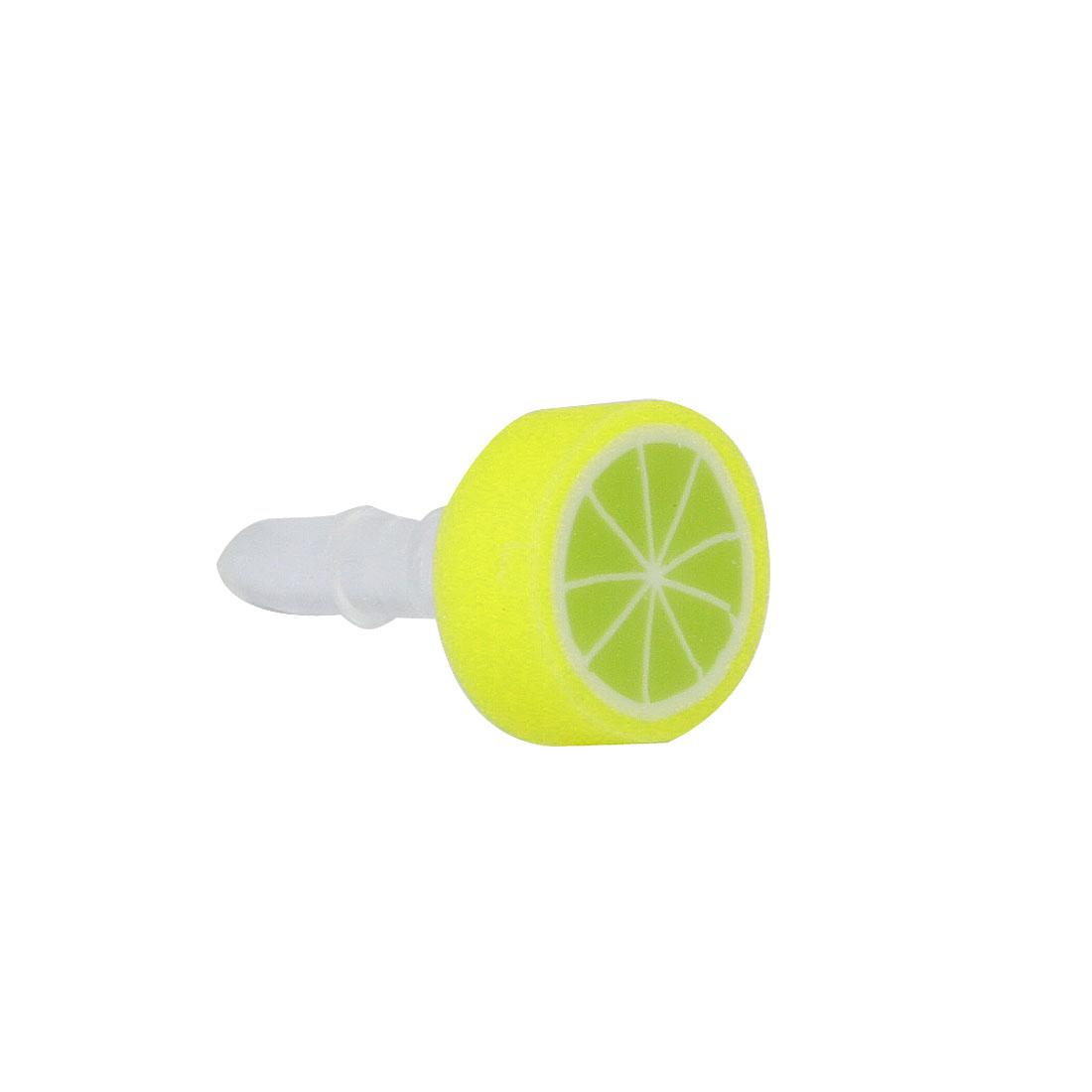 Light Green Fruit Orange 3.5mm Anti Dust Ear Cap Jack