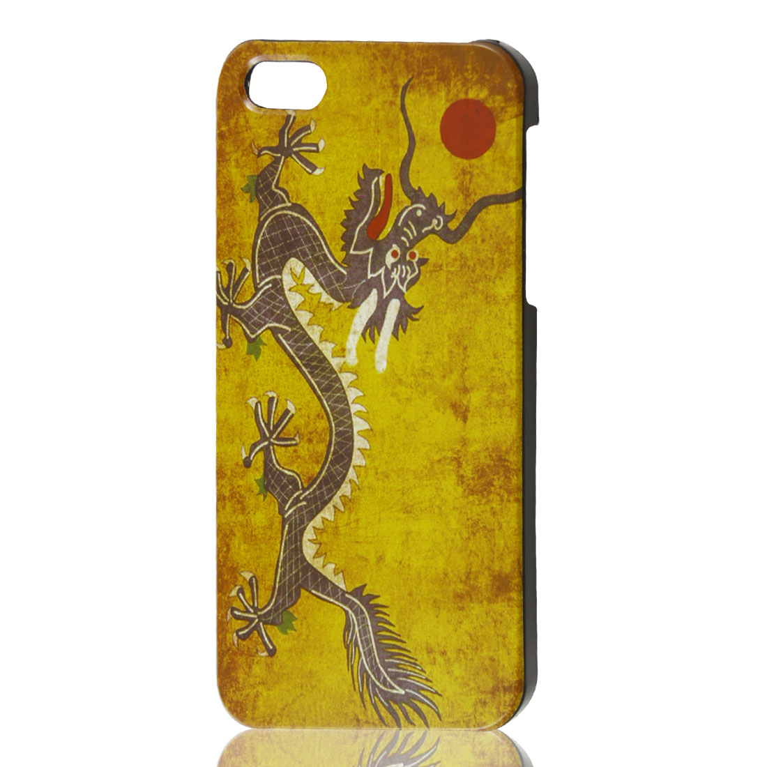 Retro Style Chinese Dragon Flag Hard Case Back Cover Protector for iPhone 5 5G