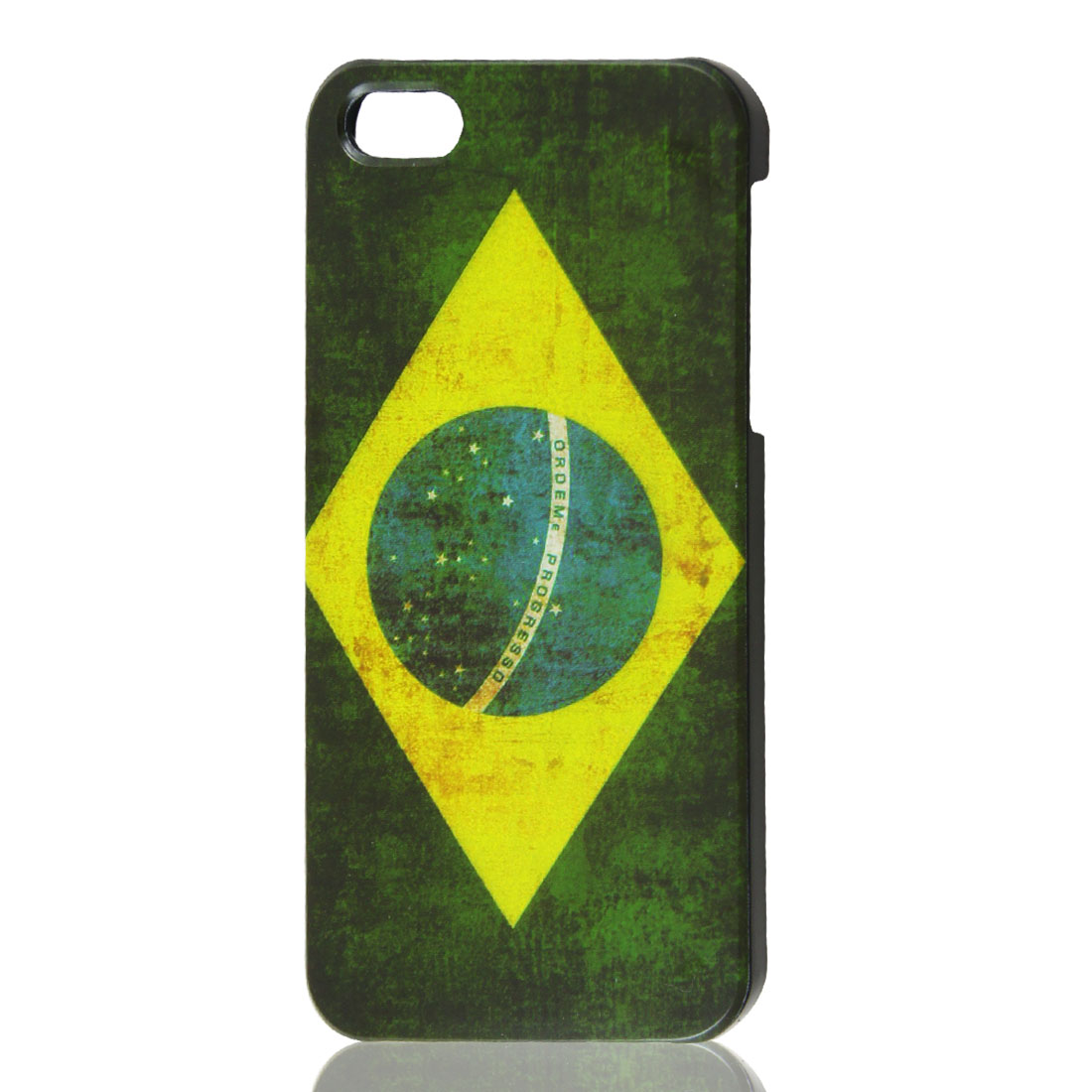 Retro Style Brazil National Flag Hard Case Back Cover Protector for iPhone 5 5G