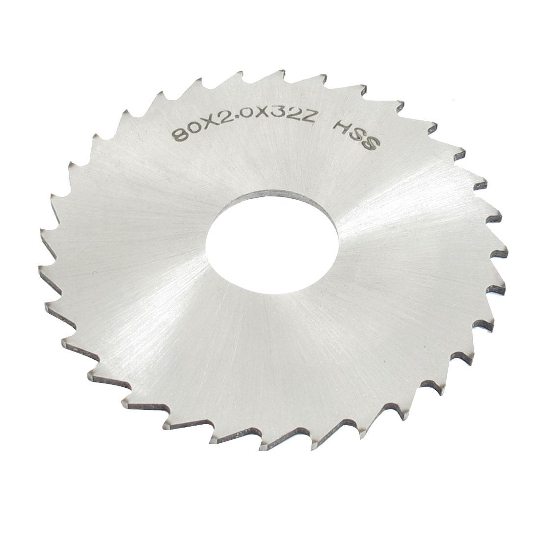 Hand Tool 80mm x 22mm x 2mm 32 Peg Teeth HSS Slitting Saw