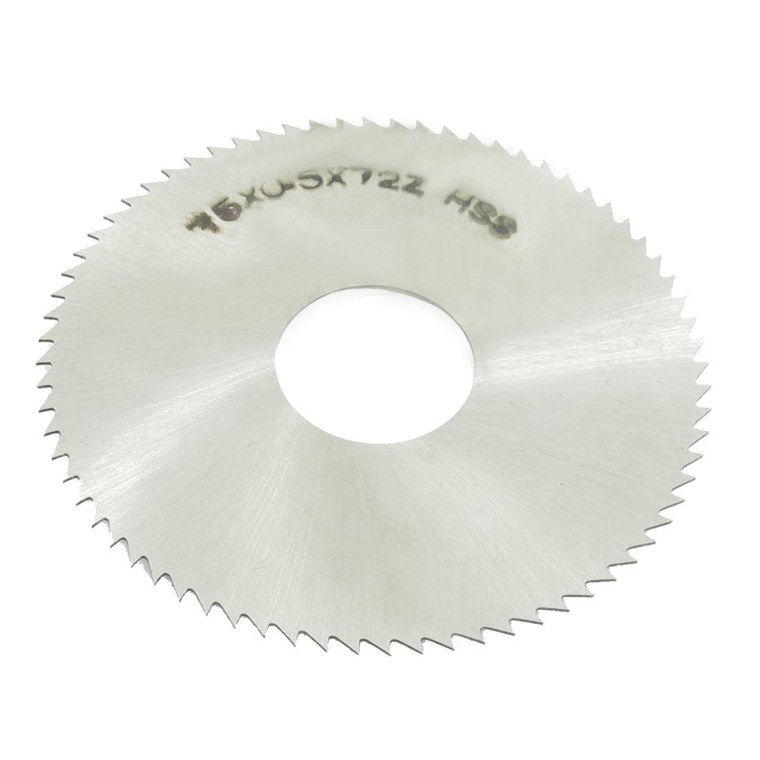 HSS 75mm Dia 0.5mm Thickness 72 Teeth Circular Milling Cutter Saw
