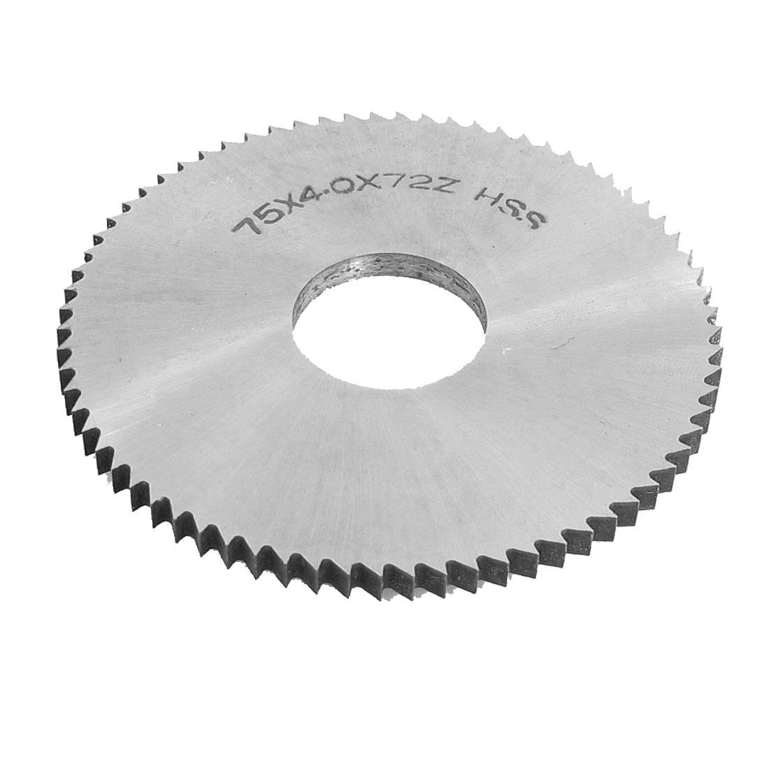 Hand Tool 75mm x 22mm x 4mm 72 Peg Teeth HSS Slitting Saw Blade