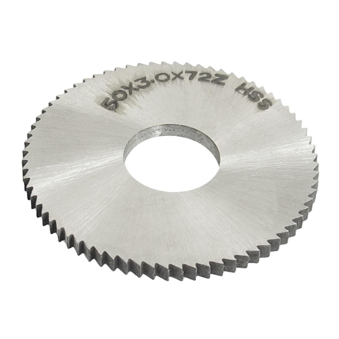 Cutting Tool 50mm x 16mm x 3mm 72 Peg Teeth HSS Slitting Saw