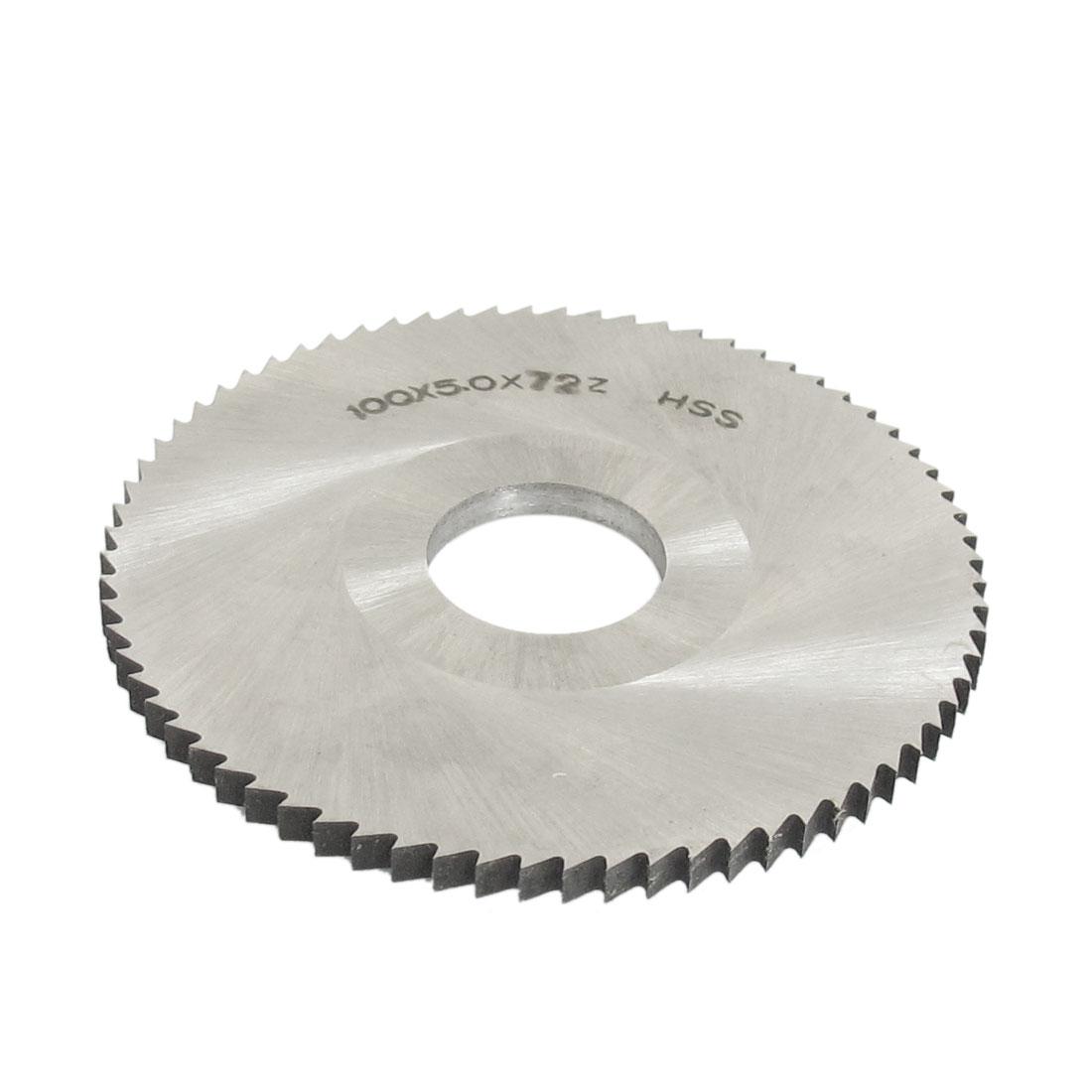 100mm Dia 5mm Thickness 72 Teeth HSS Circular Blade Slitting Saw