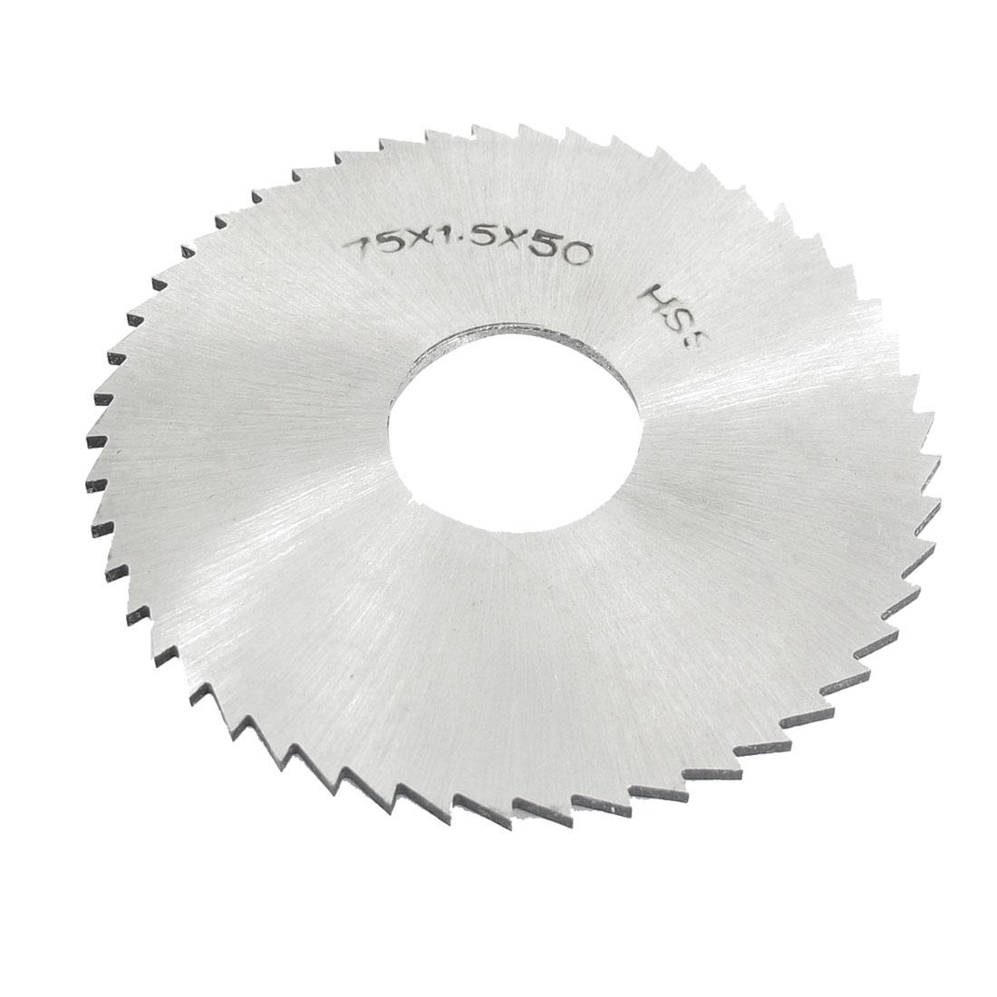 22mm Arbor Hole Dia 1.5mm Thick 50 Teeth HSS Slotting Saw