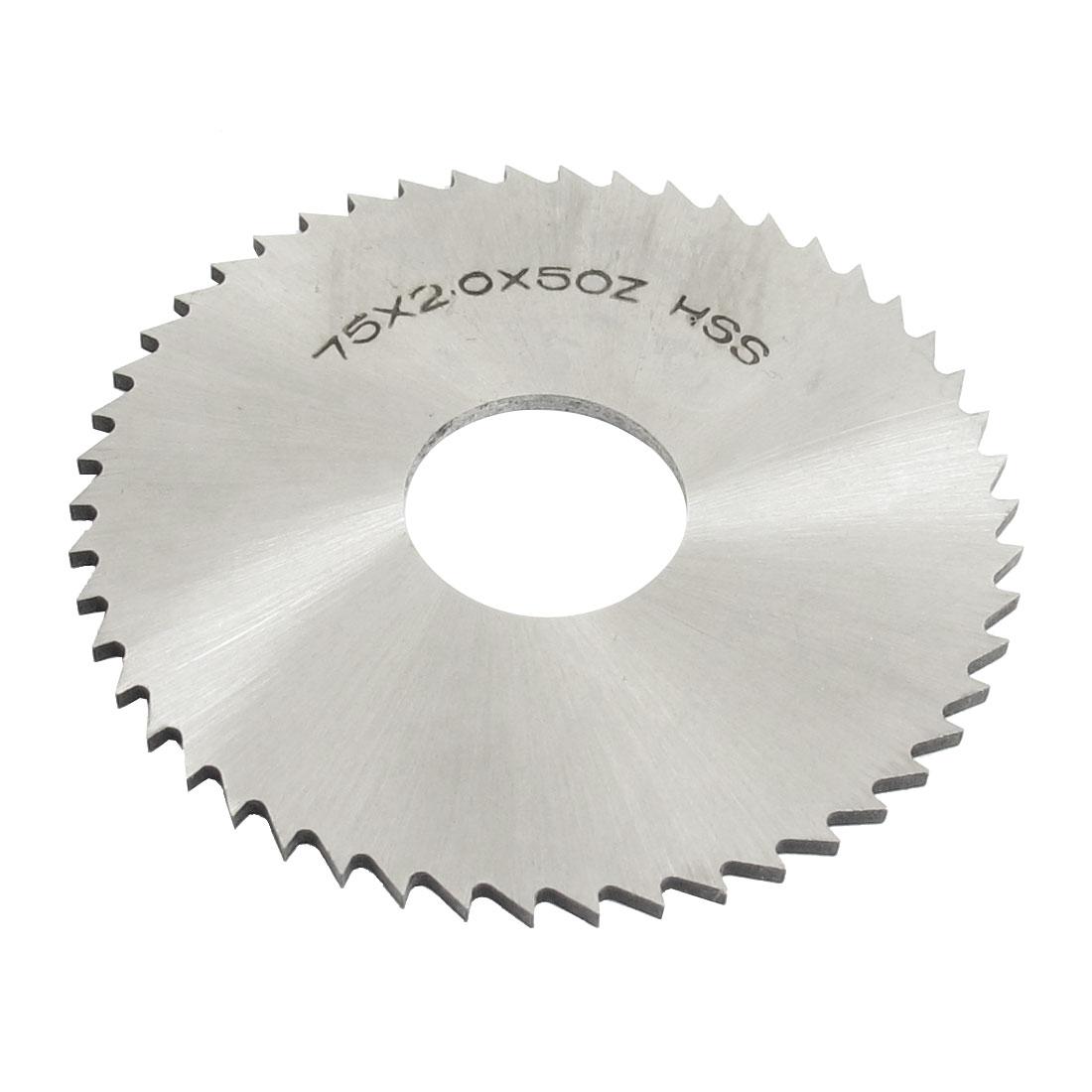 Hand Tool 75mm x 22mm x 2.0mm 50 Peg Teeth HSS Slitting Saw Blade