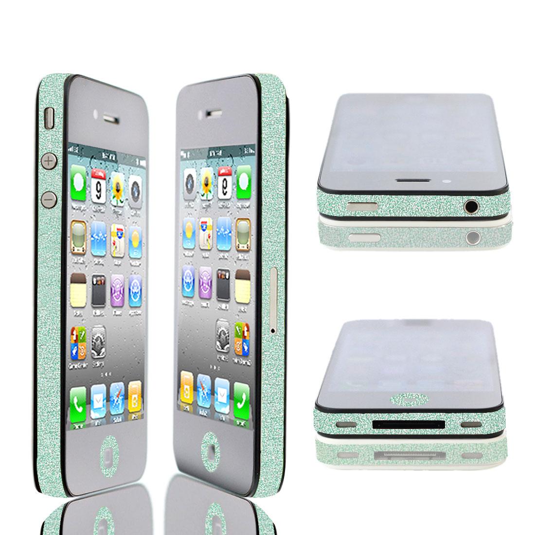 Green Glitter Glittery Bumper Side Edge Skin Decal Sticker for iPhone 5 5G