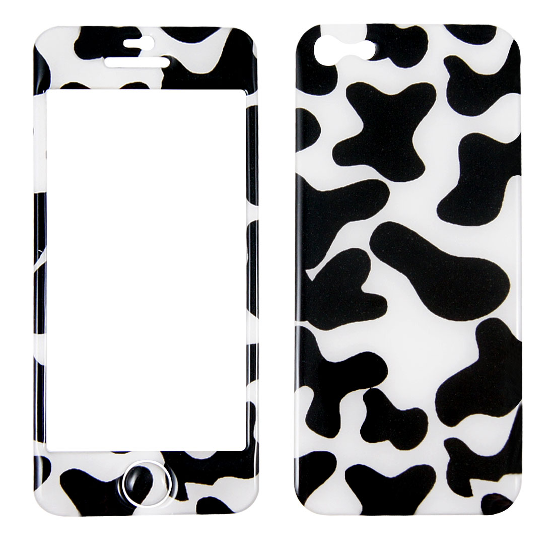 Milk Cow Pattern Front Back Full Cover Sticker Skin Protector for iPhone 5 5G