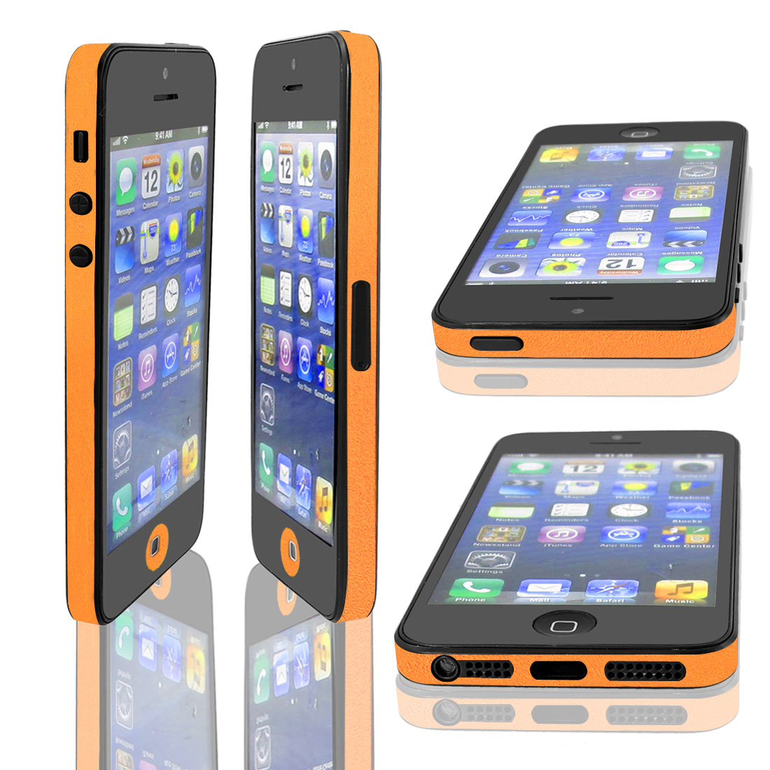 Orange Bumper Side Edge Skin Decal Sticker for Apple iPhone 5 5G 5TH