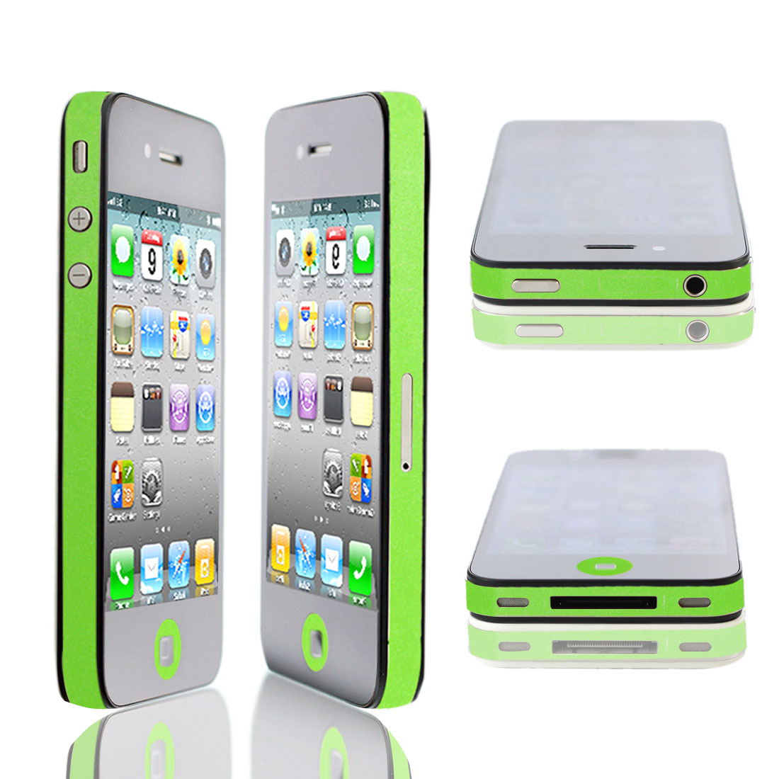 Green Bumper Side Edge Skin Decal Sticker for Apple iPhone 4 4G 4GS 4S