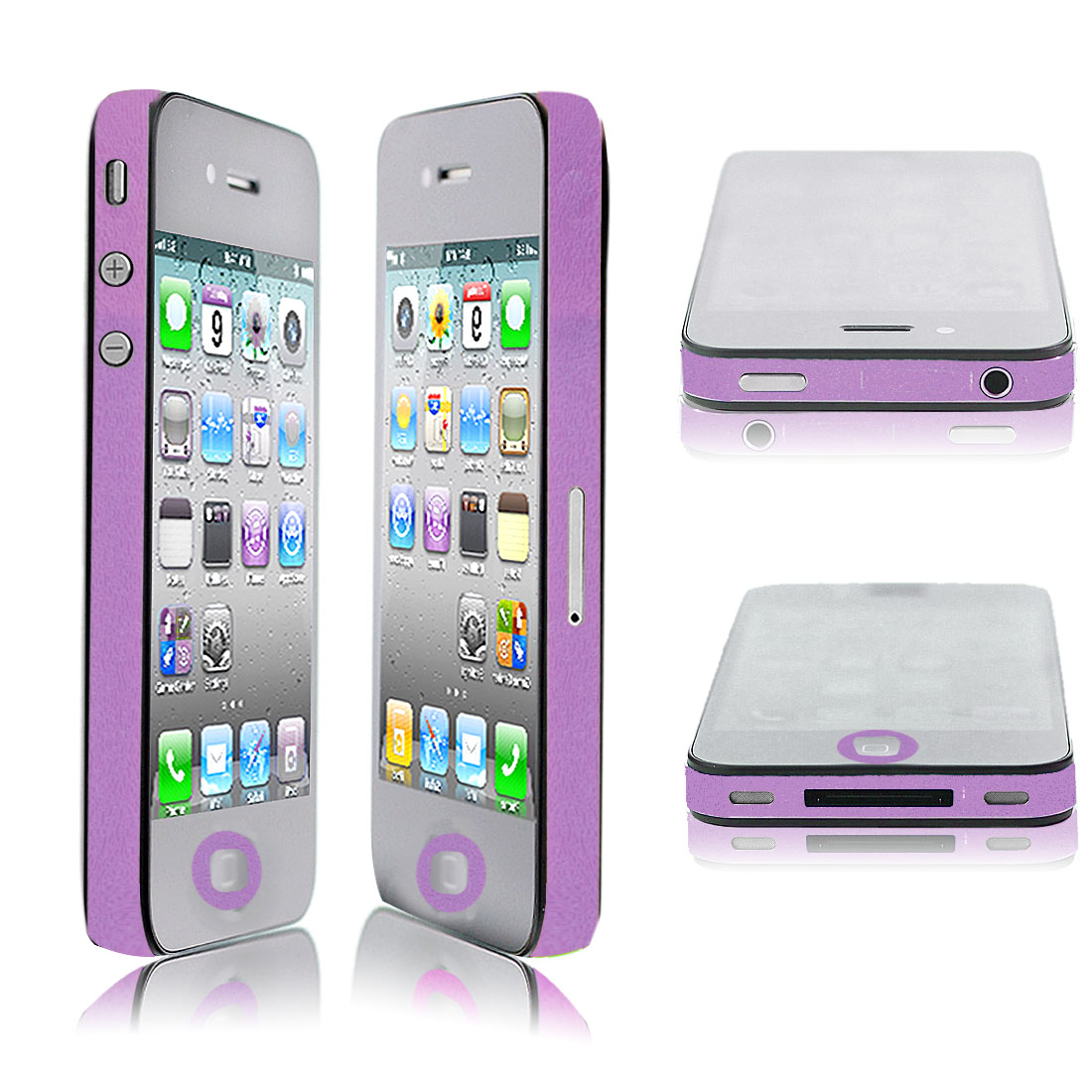 Light Purple Bumper Side Edge Skin Decal Sticker for Apple iPhone 4 4G 4GS 4S