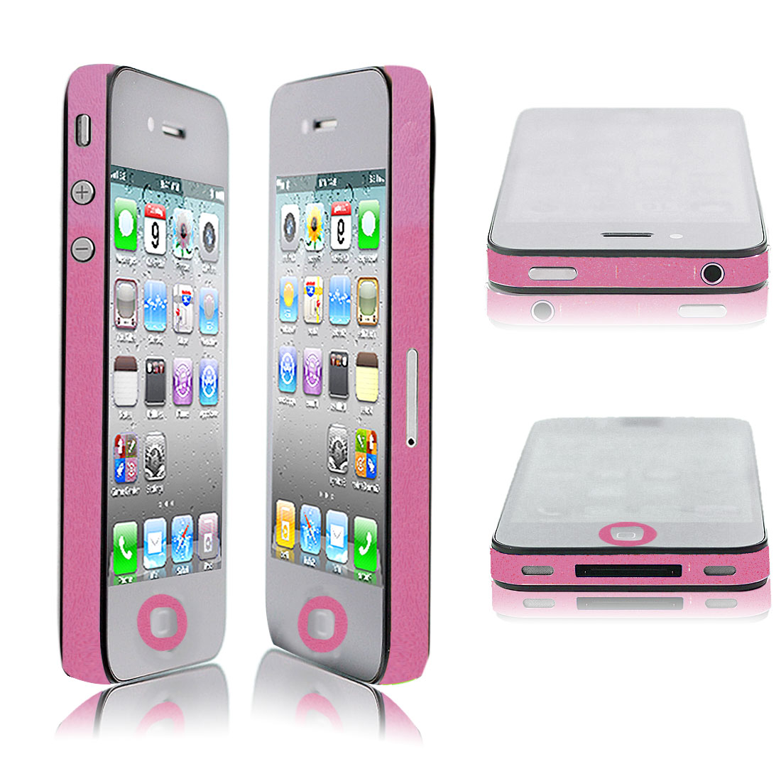 Fuchsia Bumper Side Edge Skin Decal Sticker for Apple iPhone 4 4G 4GS 4S