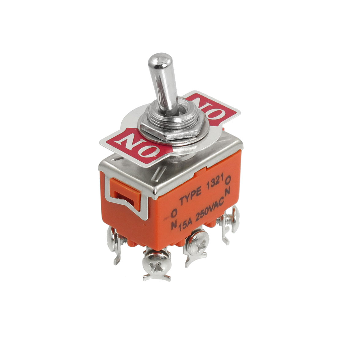 DPDT On/On 2 Position Latching Toggle Switch AC 250V 15A