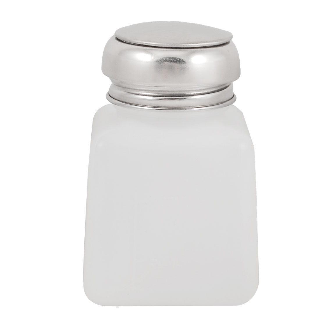 Metal Cap 100ml Plastic Liquid Container Alcohol Bottle White Silver Tone