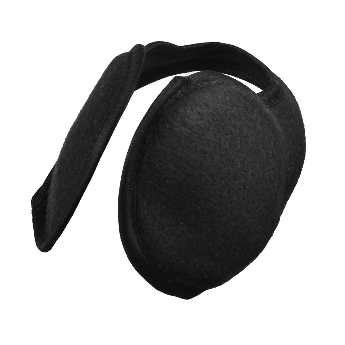 Metal Frame Black Fleece Ear Warmers Back Wear Earmuffs for Men Women