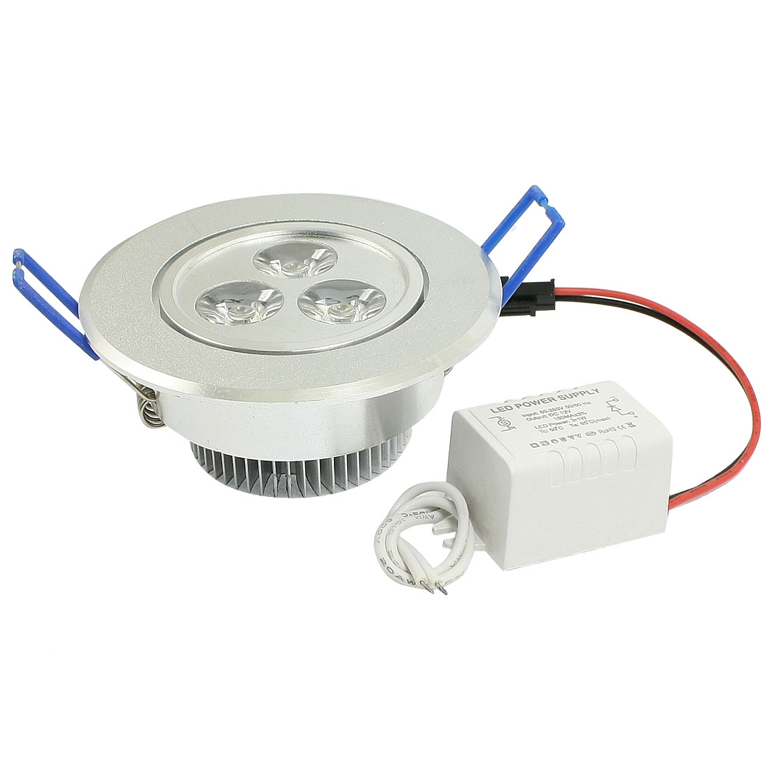 DC 12V Car Auto Warm White 3x1W LED Light Dome Ceiling Lamp